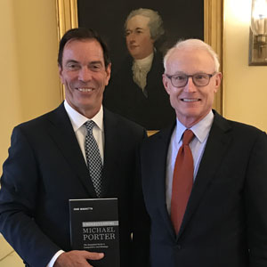 Craig with Michael Porter at HBS