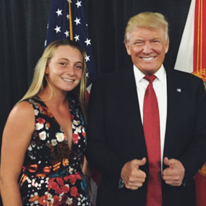 Cambelle and Donald Trump